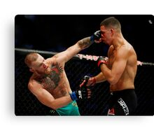 Conor McGregor vs. Nate Diaz UFC 202 Canvas Print