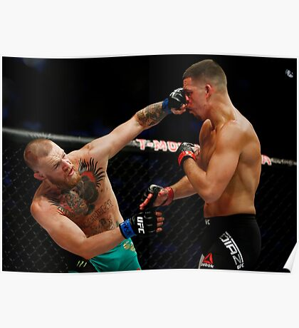 Conor McGregor vs. Nate Diaz UFC 202 Poster