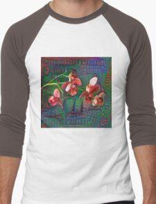 Phalaenopsis A #DeepDream Men's Baseball ¾ T-Shirt
