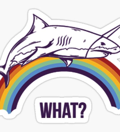 Rainbow Shark Sticker