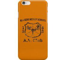 Hawkins Middle School AV Club - Black Weathered iPhone Case/Skin