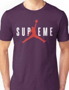Supreme x Jordan Collab White Text fotr Black Clothing Unisex T-Shirt