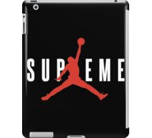 Supreme x Jordan Collab White Text fotr Black Clothing iPad Case/Skin