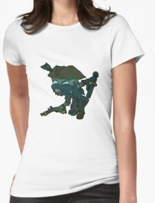 Ninja Pirate Zombie Womens Fitted T-Shirt