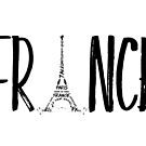 FRANCE Typografie  by Melanie Viola