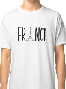 FRANCE Typografie  Classic T-Shirt