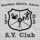 Hawkins Middle School AV Club - Black by Smidge the Crab