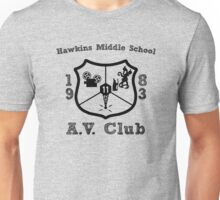 Hawkins Middle School AV Club - Black Unisex T-Shirt