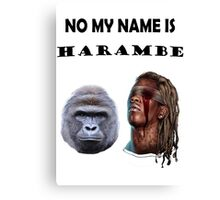 Harambe and Young Thug Canvas Print