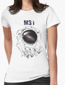 M31 galaxy Womens Fitted T-Shirt