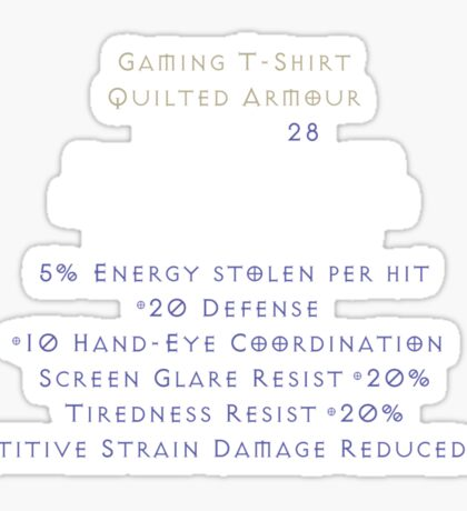 Gaming T-Shirt (Quilted Armor ENERGY Edition). Sticker