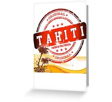 TAHITI Summer Time Greeting Card