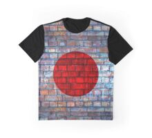 Japan vintage flag on a brick wall Graphic T-Shirt