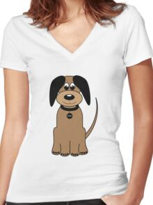 I LOVE MY DOGS_2 Women's Fitted V-Neck T-Shirt