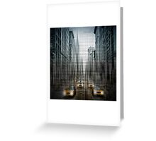 Graphic Art NYC 5th Avenue Yellow Cabs V Greeting Card