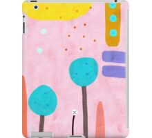 Red and Pink Happy Abstract Landscape iPad Case/Skin