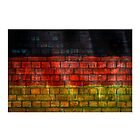 German flag painted on old brick wall by E ROS