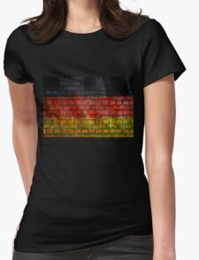 German flag painted on old brick wall Womens Fitted T-Shirt