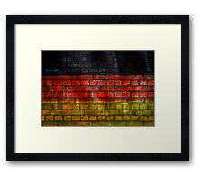 German flag painted on old brick wall Framed Print