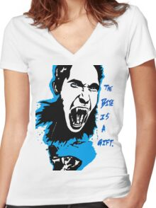 The Bite is a Gift Women's Fitted V-Neck T-Shirt
