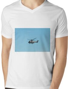Swiss Air Force Super Puma Helicopter  Mens V-Neck T-Shirt