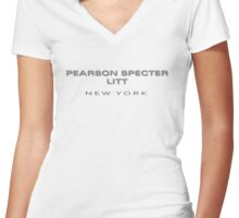 PEARSON SPECTER LITT  Women's Fitted V-Neck T-Shirt