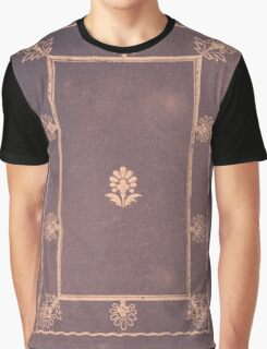 Vintage Distressed Floral Book Cover Graphic T-Shirt