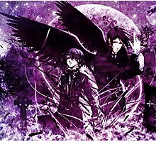 back to back reprose in purple  Photographic Print