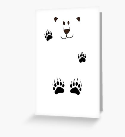 SAY HI TO THE BEAR IN THE SNOWSTORM Greeting Card