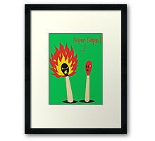 Super Saiyan Matches Framed Print