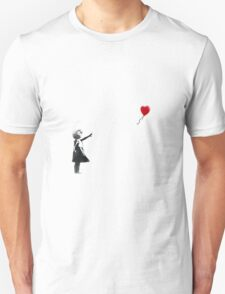 Bansky, Girl with red balloon  Unisex T-Shirt