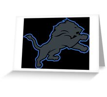Detroit Lions Inverted Logo Greeting Card