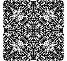Classic Black and White III. - pattern Photographic Print