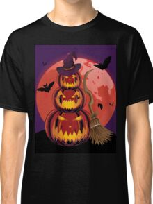Pumpkins and Red Moon Classic T-Shirt