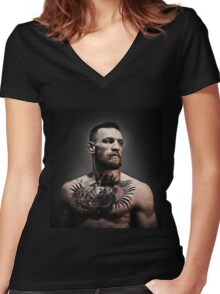 McGREGOR THE NOTORIOUS Women's Fitted V-Neck T-Shirt