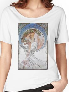Alphonse Mucha - La Poesiepoetry Women's Relaxed Fit T-Shirt