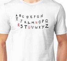 Stranger Things – Lights, Letters, Run Unisex T-Shirt