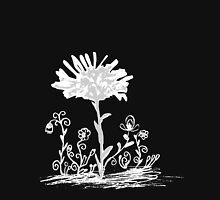 Invert sketch flowers Unisex T-Shirt