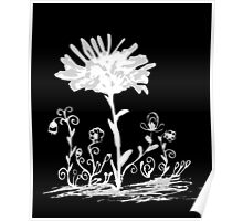 Invert sketch flowers Poster