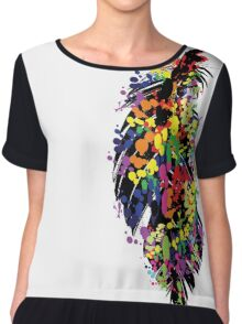 Colorful feather Chiffon Top