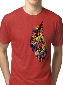 Colorful feather Tri-blend T-Shirt