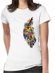 Colorful feather Womens Fitted T-Shirt