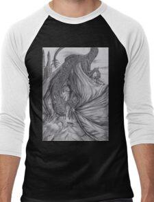 Hungarian horntail - BW Men's Baseball ¾ T-Shirt