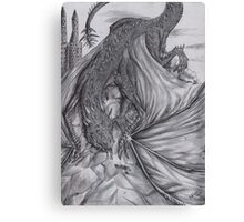 Hungarian horntail - BW Canvas Print