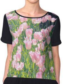 Pink tulips Chiffon Top