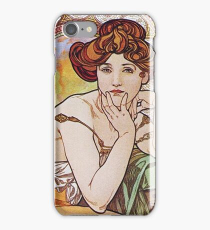 Alphonse Mucha - La Topazetopaz iPhone Case/Skin