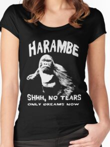 harambe - no tears only dream now Women's Fitted Scoop T-Shirt