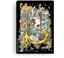 """The Illustrated Alphabet Capital  L  """"Getting personal"""" from THE ILLUSTRATED MAN Canvas Print"""