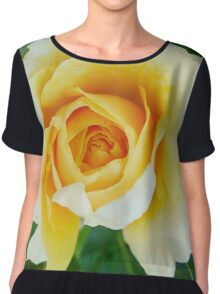 Yellow Roses Chiffon Top
