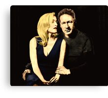 Gillian and David aka Schmoopies Canvas Print